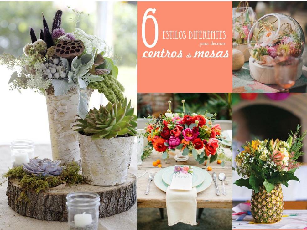 6 estilos diferentes para decorar con centros de mesa - Adornos para mesas de centro ...